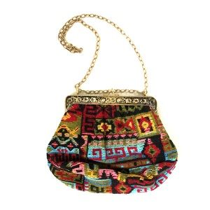 Vintage Embroidered Purse